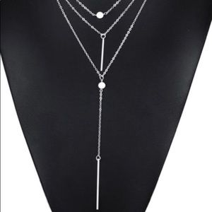 3 Layer Silver Dainty Necklace